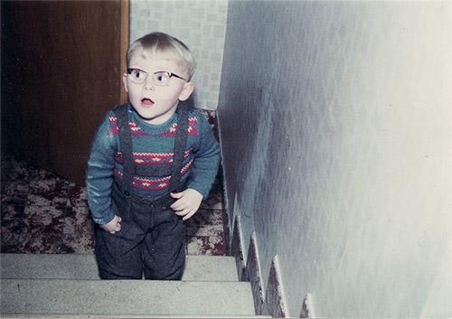 auf der Treppe 1963